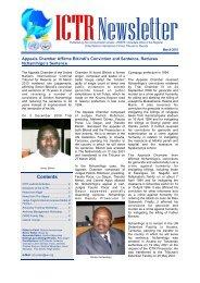 Contents - International Criminal Tribunal for Rwanda