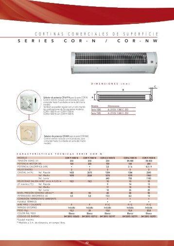 Catálogo cortinas de aire S&P - hosclima