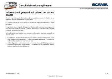 Calcoli del carico sugli assali Informazioni generali sui ... - Scania