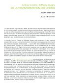 DE LA TRAN SFORMA TION DES CHOSES - E.S.C.U.L.E.N.T.A. - Page 3