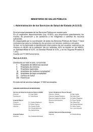 MINISTERIO DE SALUD PÚBLICA I. Administración de los Servicios ...