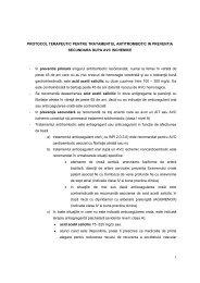 protocol terapeutic pentru tratamentul antitrombotic in preventia