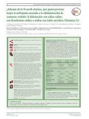 ¿Además de la N-acetil-cisteína, qué pauta previene ... - Nefrología