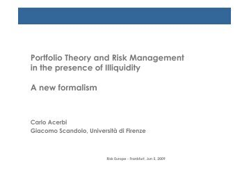 Carlo Acerbi - Risk Europe