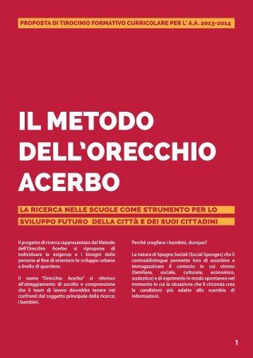 IL METODO DELL'ORECCHIO ACERBO - Universita degli studi di ...
