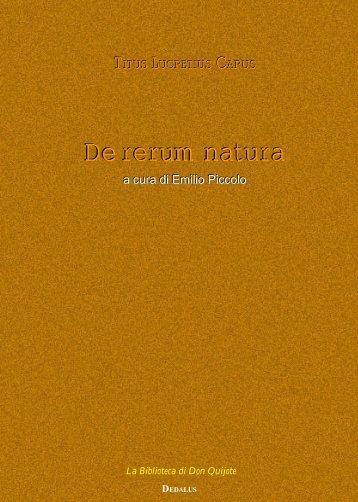 De rerum natura - Senecio