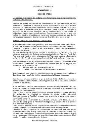 Seminarios 12 - Facultad de Agronomía