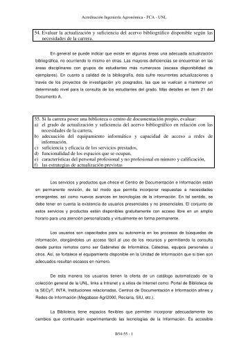 54. Evaluar la actualización y suficiencia del acervo bibliográfico ...