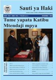The Voice of Haki Desember 2007 English