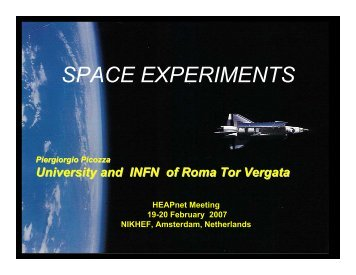SPACE EXPERIMENTS - HEAPnet