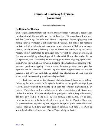 Resumé af Iliaden og Odysseen. [Ausonius] - Aigis