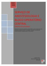 Relatório de Actividades 2005 a 2008 - Hospitais da Universidade ...