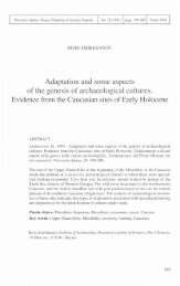 Adaptation and some aspects of the genesis of archaeological ...