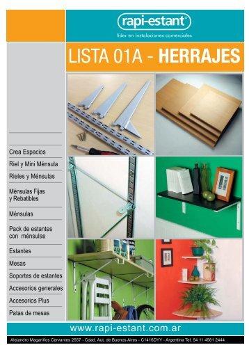 LISTA 01A - HERRAJES