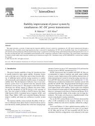 Stability improvement of power system by simultaneous AC–DC ...