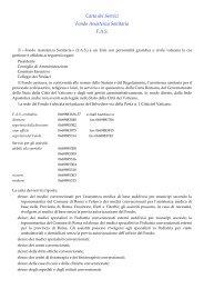 Carta dei Servizi Fondo Assistenza Sanitaria F.A.S. - La Santa Sede