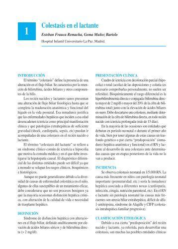 Colestasis en el lactante - Asociación Española de Pediatría