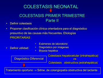 diagnostico diferencial de las colestasis neonatales - aaeeh