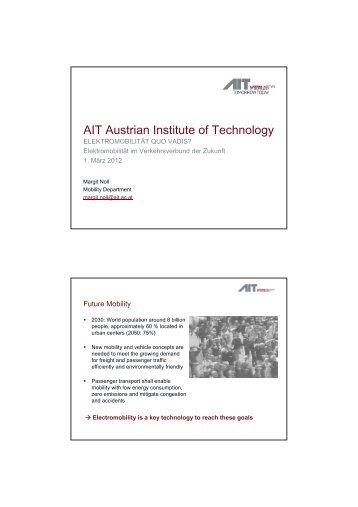 AIT Austrian Institute of Technology - Arbeiterkammer Wien