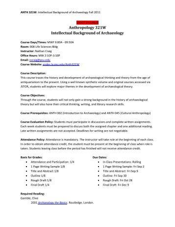 Course Syllabus - Penn State Personal Web Server