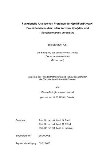 Funktionelle Analyse von Proteinen der Gpr1/Fun34/yaaH ...