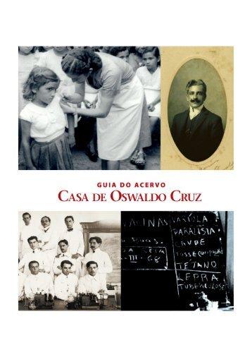 Guia do acervo - Arquivo da Casa de Oswaldo Cruz - Fiocruz
