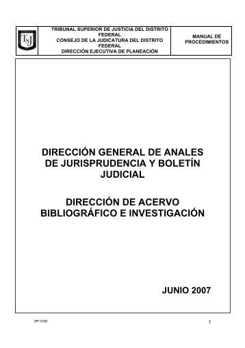 Dirección de Acervo Bibliográfico e Investigación - Poder Judicial ...