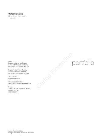 portfolio 1993-2012 - Carlos Fiorentino