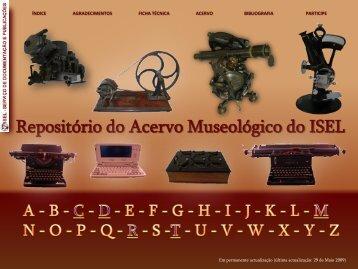 Repositório do Acervo museológico do Isel