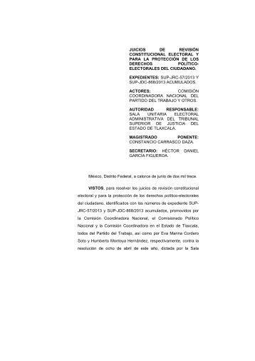 juicio para la protección de los derechos político-electorales del ...