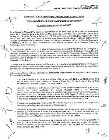 43k ' OFICIALÍA MAYOR - Consejo de la Judicatura Federal