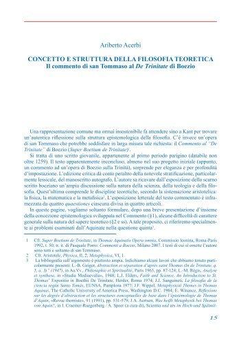 Ariberto Acerbi CONCETTO E STRUTTURA DELLA ... - Babelonline