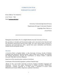 curriculum vitae mariagiulia garufi - Foreign Languages and ...