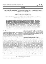 Review The suppository form of antibiotic administration - Journal of ...