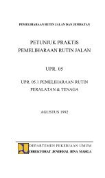 Petunjuk Praktis Pemeliharaan Rutin Jalan UPR ... - Dirjen Bina Marga