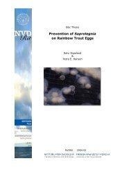 Prevention of Saprolegnia on Rainbow Trout Eggs