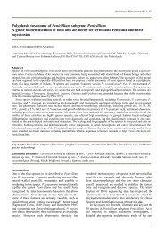 Polyphasic taxonomy of Penicillium subgenus Penicillium A ... - Cbs