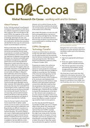 Global Research On Cocoa - working with and for farmers - CABI