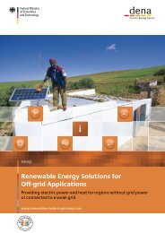 Renewable Energy Solutions for Off-grid Applications
