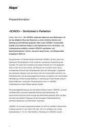 Presseinformation »SONDO« - Sinnlichkeit in Perfektion - Alape