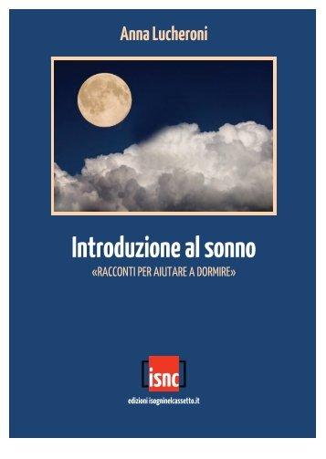 Anna Lucheroni Introduzione al sonno - I Sogni nel Cassetto