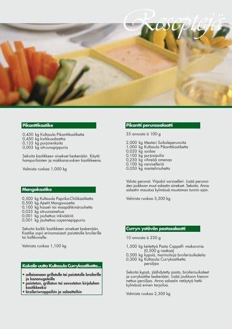 Kultasula-kastikkeet 12/2004 - Ateriamestarit