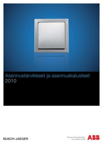 Asennustarvikkeet ja asennuskalusteet 2010 - SmartPage