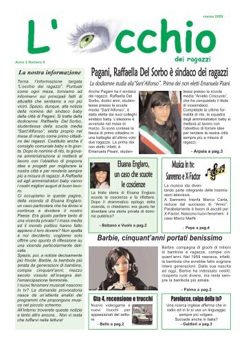 Pagani, Raffaella Del Sorbo è sindaco dei ragazzi - 1 - Altervista