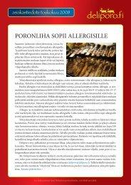 PORONLIHA SOPII ALLERGISILLE - Deliporo.fi