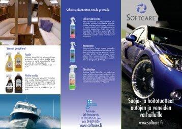 Auton ja veneen hoitotuotteet - Softcare