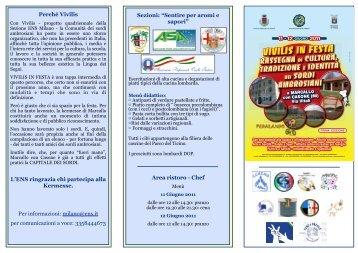 Programma Vivilis in festa - Provincia di Milano