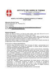 Istituto dei Sordi di Torino - Città di Torino