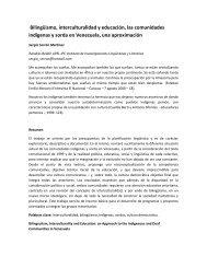Bilingüismo, interculturalidad y educación, las comunidades ...