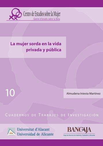 La mujer sorda en la vida privada y pública - Programa de Equidad ...